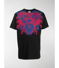 marcelo burlon county of milan lion paint splatter print t-shirt
