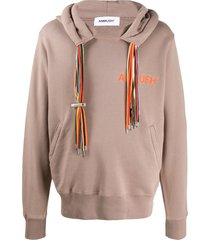 ambush multiple drawstring hoodie - neutrals