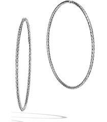 women's john hardy classic chain extra large hoop earrings