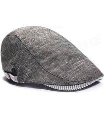 mens beret retro cotone visiera gorras planas cappello cabbie ivy cap capo sormontato