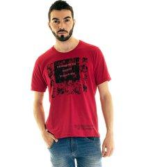 camiseta konciny manga curta estampada 30867 vermelho