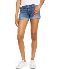women's hudson jeans croxley cuffed denim shorts, size 25 - blue