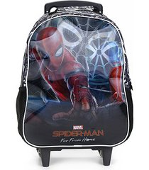 mochila infantil escolar xeryus disney spider man filme stealth com rodinhas
