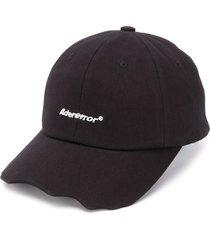 ader error zigzag embroidered-logo cap - black