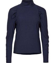 rifagz turtleneck blouse lange mouwen blauw gestuz