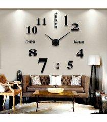 ew reloj decorativo colgante grande de pared para salón diy 3d eva