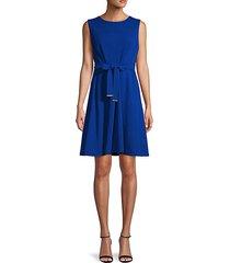 tie-waist fit-&-flare dress