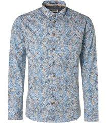 no excess shirt stretch all over printed indigo blue