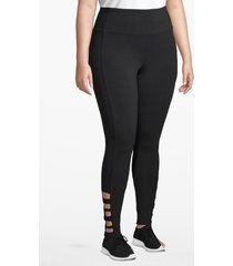 lane bryant women's active 7/8 legging - strappy hem 14/16 black