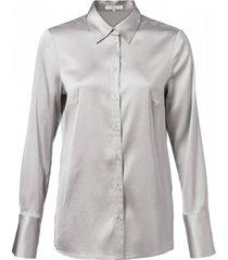 blouse satin zilver