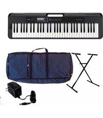 combo piano casio ct-s300 teclado sensible base estuche adaptador