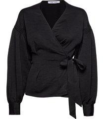 merrill blouse 11242 blouse lange mouwen zwart samsøe & samsøe
