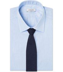 cravatta su misura, lanificio ermenegildo zegna, lana blu notte spigata, quattro stagioni | lanieri