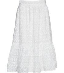 liv knälång kjol vit stella nova