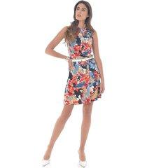 vestido para mujer en viscosa multicolor color-multicolor-talla-xl