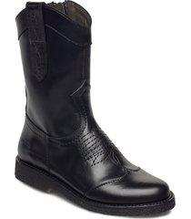 boots - flat - with zipper känga stövel svart angulus