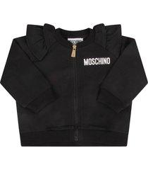 moschino black sweatshirt for babygirl with teddy bear