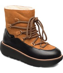 ebba ski ankle shoes boots ankle boots ankle boots flat heel brun fitflop