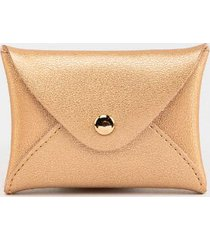 maddie croc snap coin pouch - rose/gold