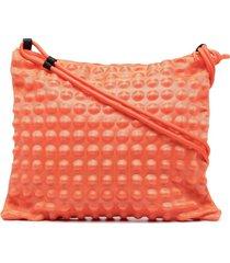 bao bao issey miyake puchi puchi shoulder bag - orange