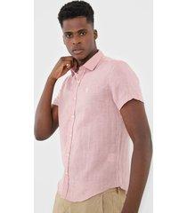 camisa sergio k reta lisa rosa