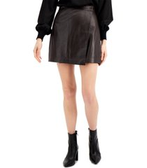 french connection abri leather mini skirt