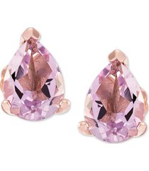 amethyst (1-1/5 ct. t.w.) stud earrings in 14k rose gold