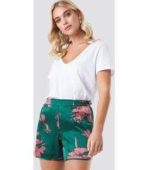 rut&circle flower smock shorts - green