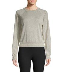 heathered cotton sweatshirt