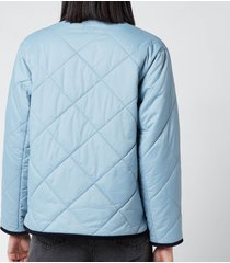 barbour x alexa chung women's quilty quilted jacket - fade blue - uk 14