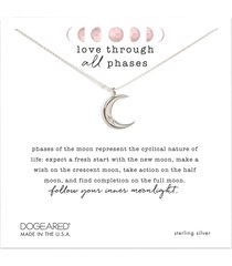 dogeared love through all phases necklace silver stone