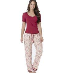 pijama pantalon largo vinotinto adriana arango