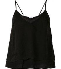 venroy spaghetti strap vest - black