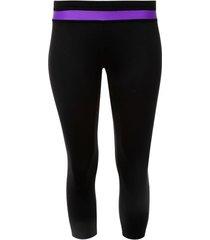 legging deportivo con pretina en contraste color morado, talla xs