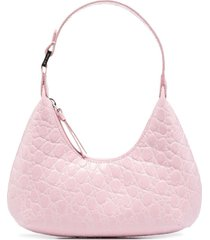 by far textured finish shoulder bag - pink