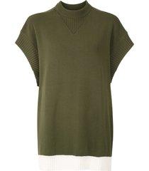 gloria coelho batwing sleeves knit blouse - green