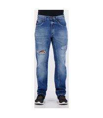 calça jeans ecko classic details azul
