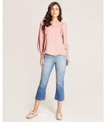 jeans crop desgastado