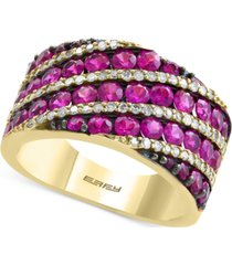 amore by effy certified ruby (2-3/4 ct. t.w.) and diamond (1/3 ct. t.w.) ring in 14k gold
