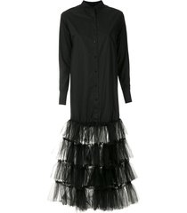 andrea bogosian midi shirt dress - black