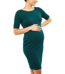 a pea in the pod maternity jacquard sheath dress