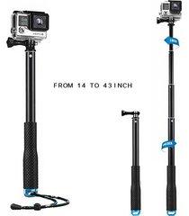 monopodo selfie sjcam gopro extensible 95 cm sumergible
