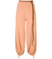 nk plush roy trousers - pink