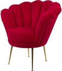 fotel czerwona muszelka tapicerowany lux-3