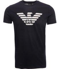 emporio armani eagle logo t-shirt - blu scuro 8n1t991jnqz