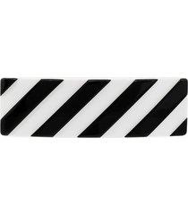 off-white striped hair clip - black