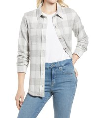 women's faherty legend button-up sweater shirt, size x-large - grey