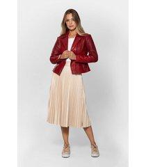 falda suede para mujer plisado