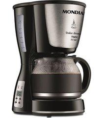 cafeteira elétrica mondial dolce arome digital inox 32 xícaras c-31 dg 32x preto