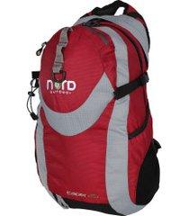 mochila cargueira nord outdoor caper - 25 litros - vermelho/cinza